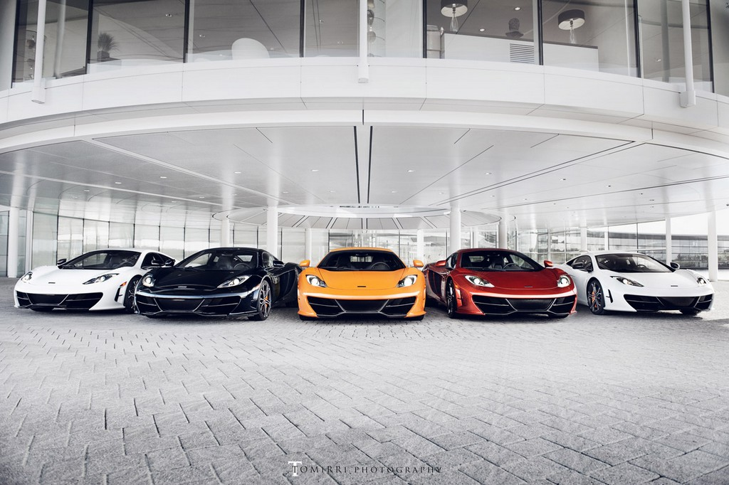 All Five McLaren MP4-12C High Sport Editions in One Photo Shoot 001