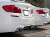 Alpine White 2013 BMW F10 M5 Duo with Eisenmann Exhaust
