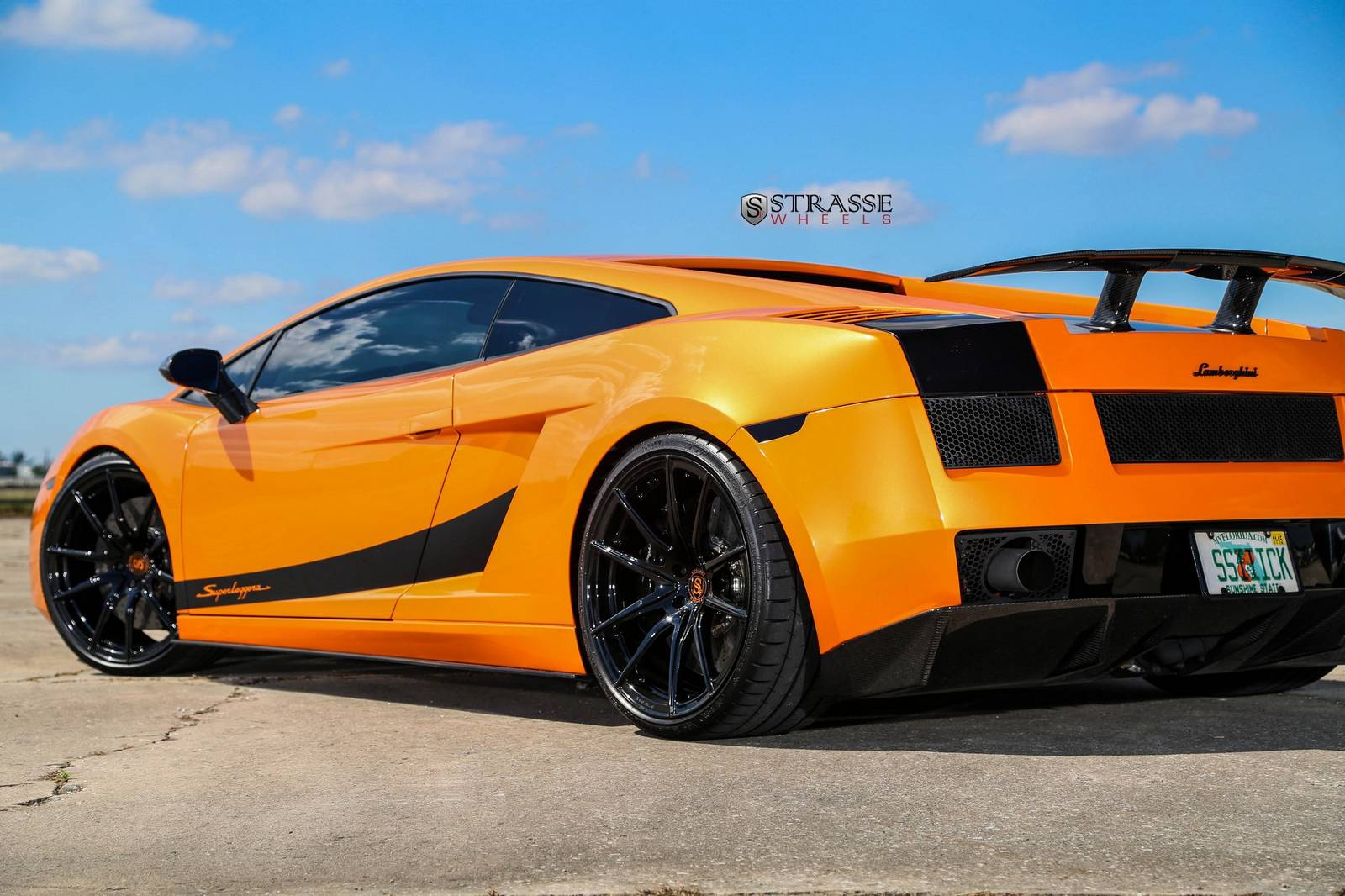Arancio Borealis Lamborghini Gallardo Superleggera With Strasse Wheels