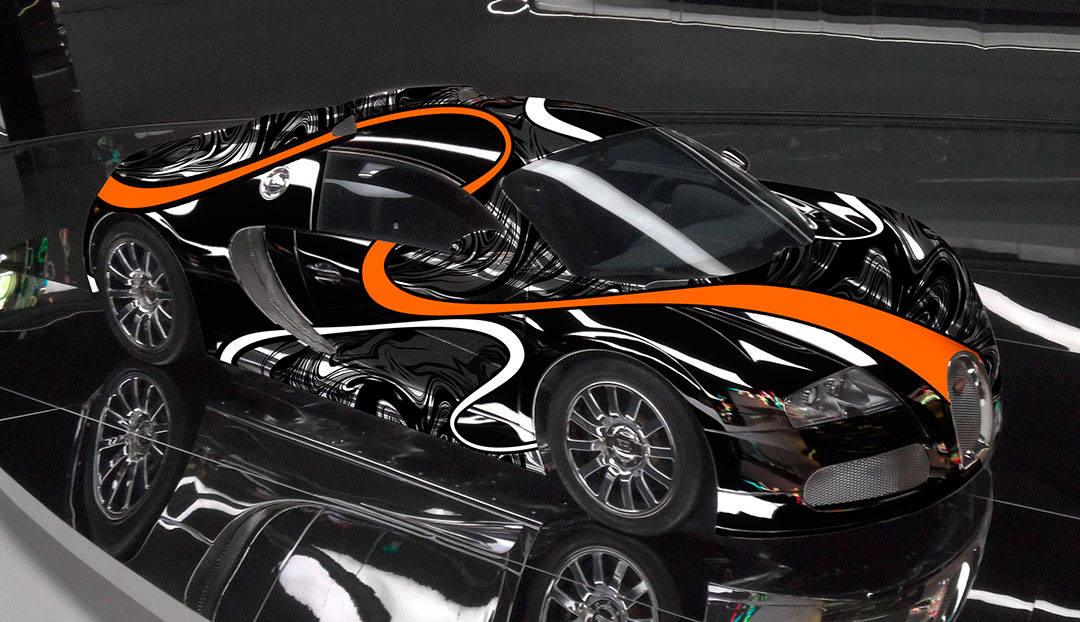 Black Chrome Bugatti Veyron Super Sport by Sticker City ...