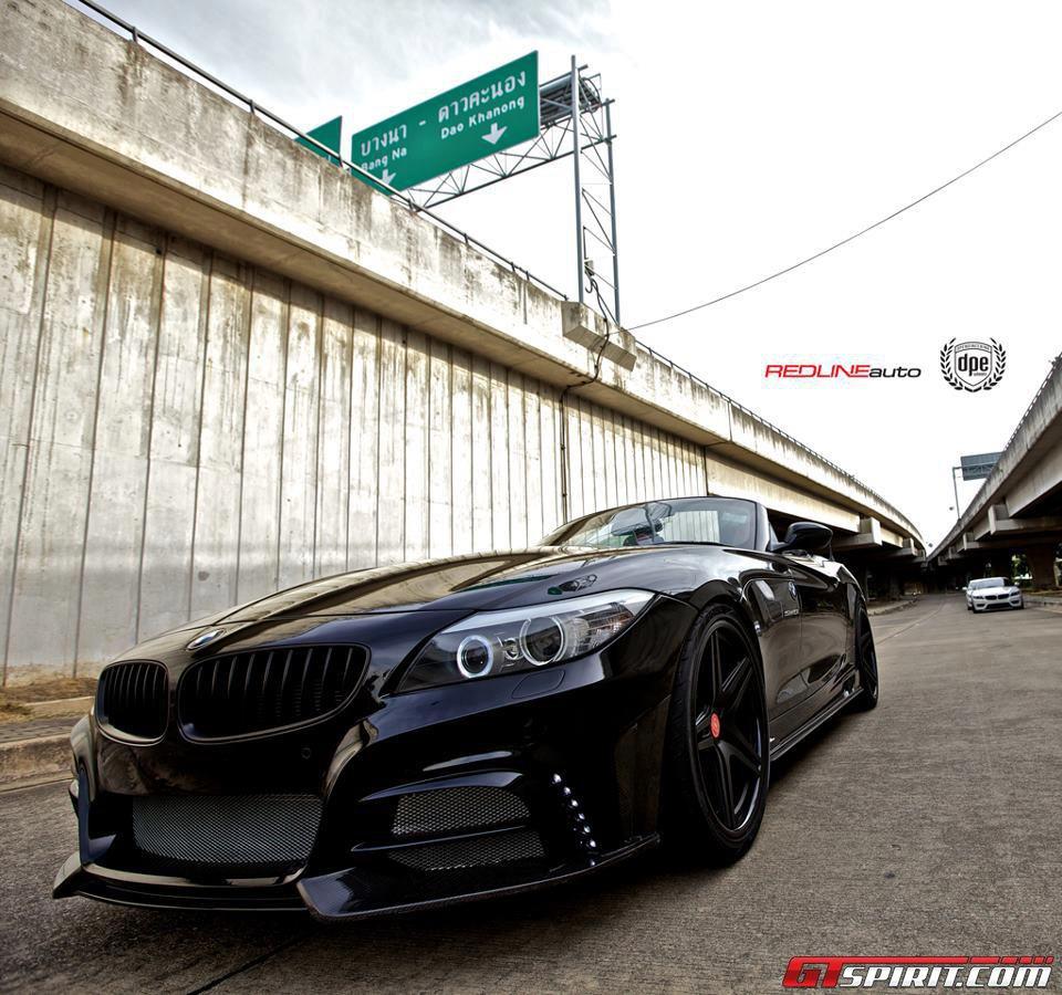 Bmw Z4 Coupe Tuning: Blacked BMW Z4 Roadster By Redline Auto Thailand