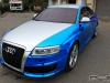 Blue Chrome and Matte Silver Audi RS6