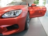 BMW F12M M6 Coupe in Frozen Red in Munich BMW Dealership