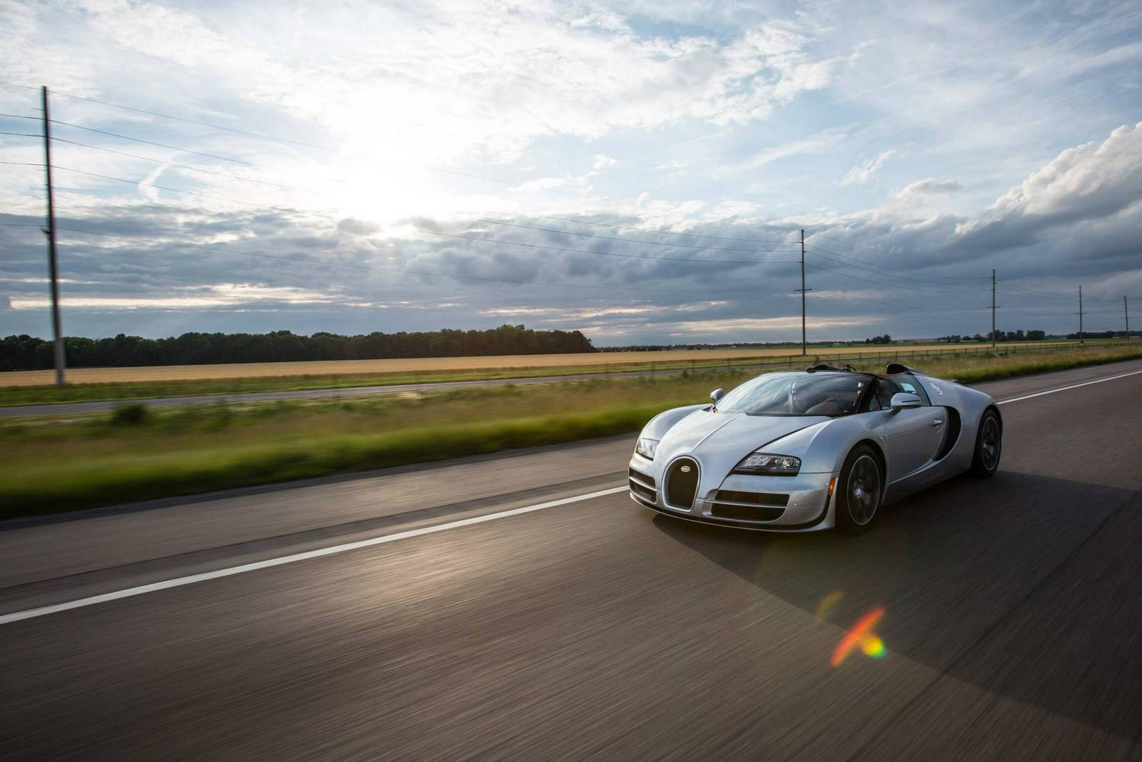 Фото | На трассе Bugatti Veyron Grand Sport Vitesse