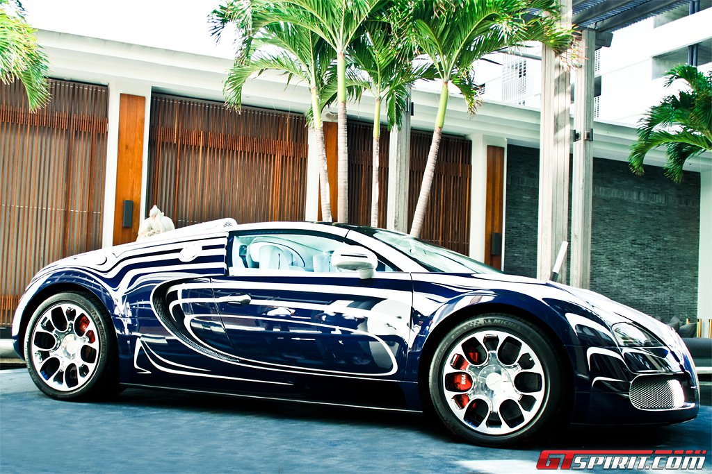 bugatti veyron grand sport l 39 or blanc in miami beach gtspirit. Black Bedroom Furniture Sets. Home Design Ideas
