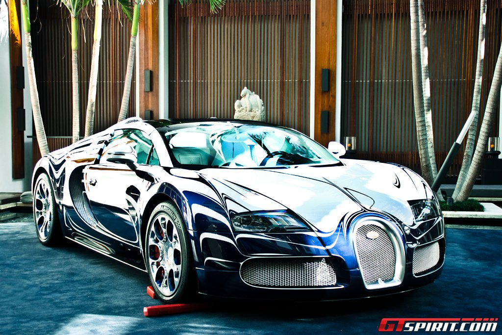 bugatti veyron grand sport l 39 or blanc in miami beach. Black Bedroom Furniture Sets. Home Design Ideas