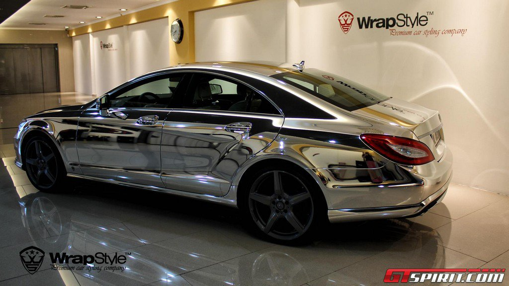 Chrome mercedes benz cls by wrapstyle for Mercedes benz chrome