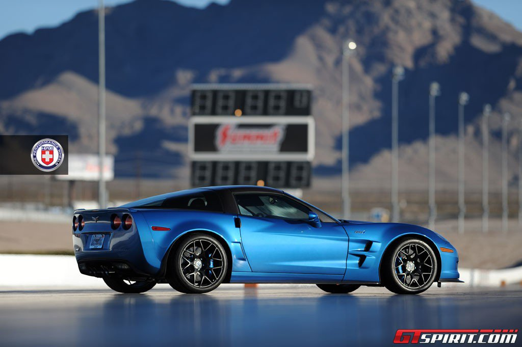 Corvette ZR1 on HRE P40S at Las Vegas Speedway
