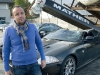 Crane Falls on Jaguar XKR-S