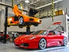 F430 and Murcielago in the shop