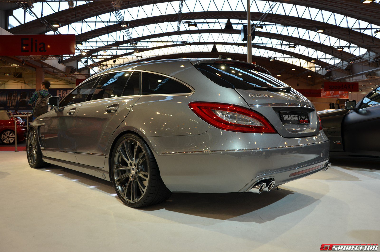 2012 brabus mercedes cls shooting brake dark cars wallpapers. Black Bedroom Furniture Sets. Home Design Ideas