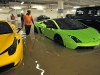 Exotic Cars in Flooded Singapore Garage