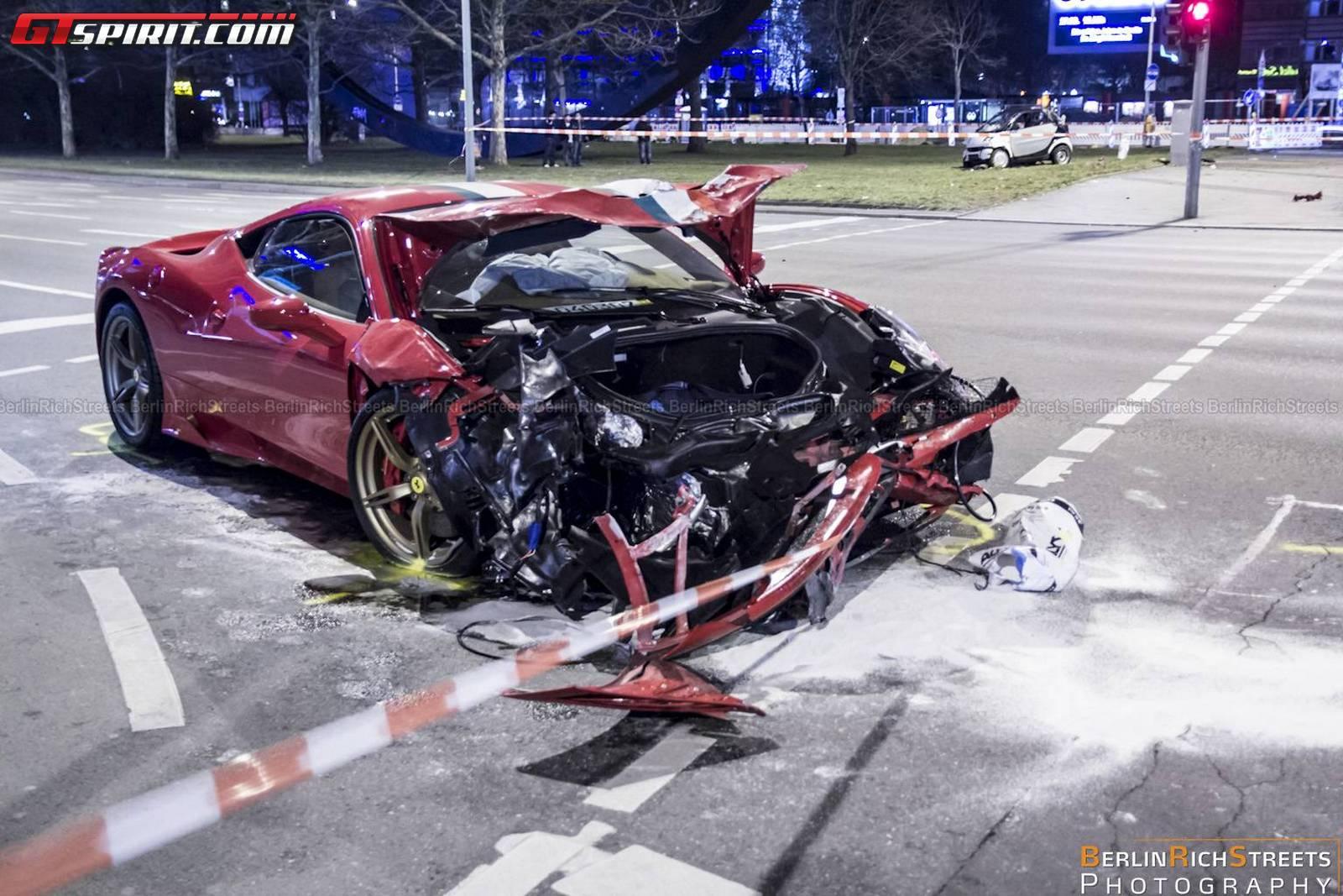 Smart Car Getting Hit By Semi