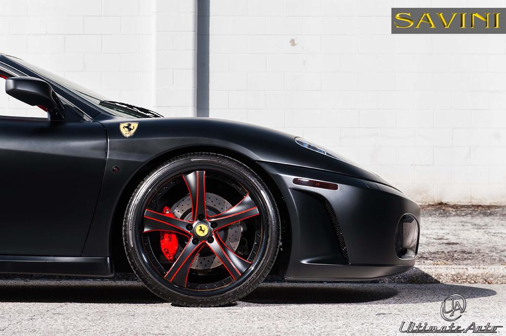 Download Matte Black Ferrari F430 Wallpaper  PNG