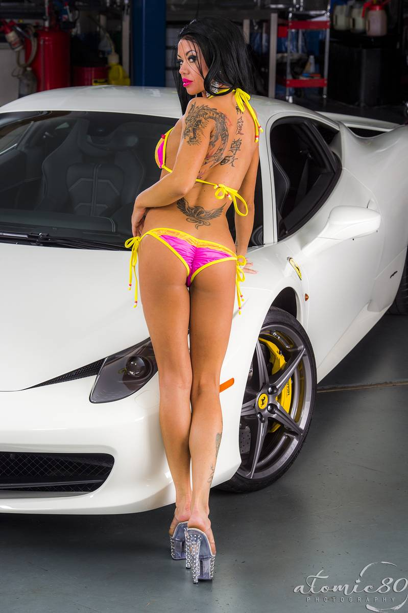 from Gael girls modeling naked with cars