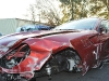 Cristiano Ronaldo's crashed Ferrari 599 GTB