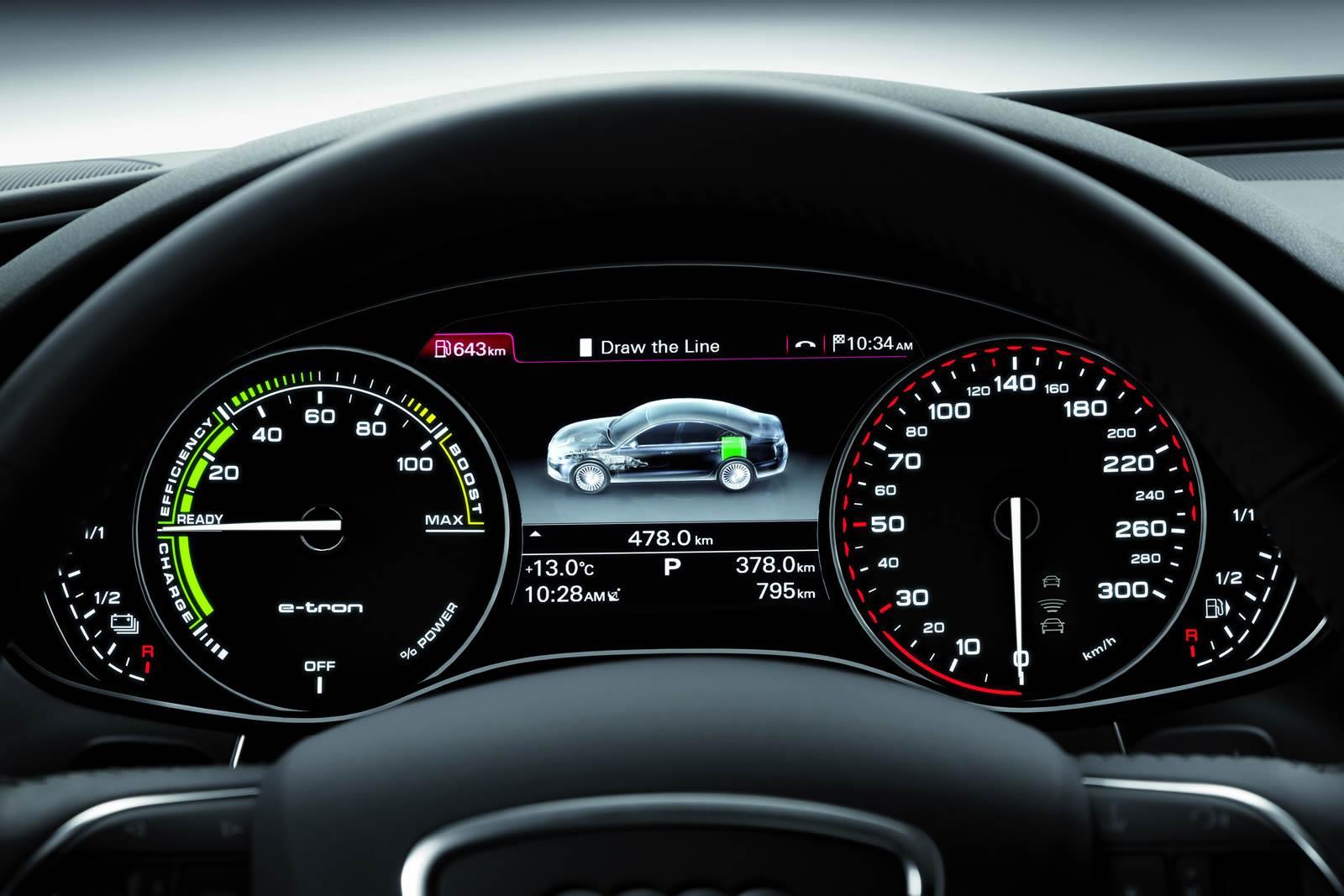 Приборная панель Audi A6 L e-tron 2012 года