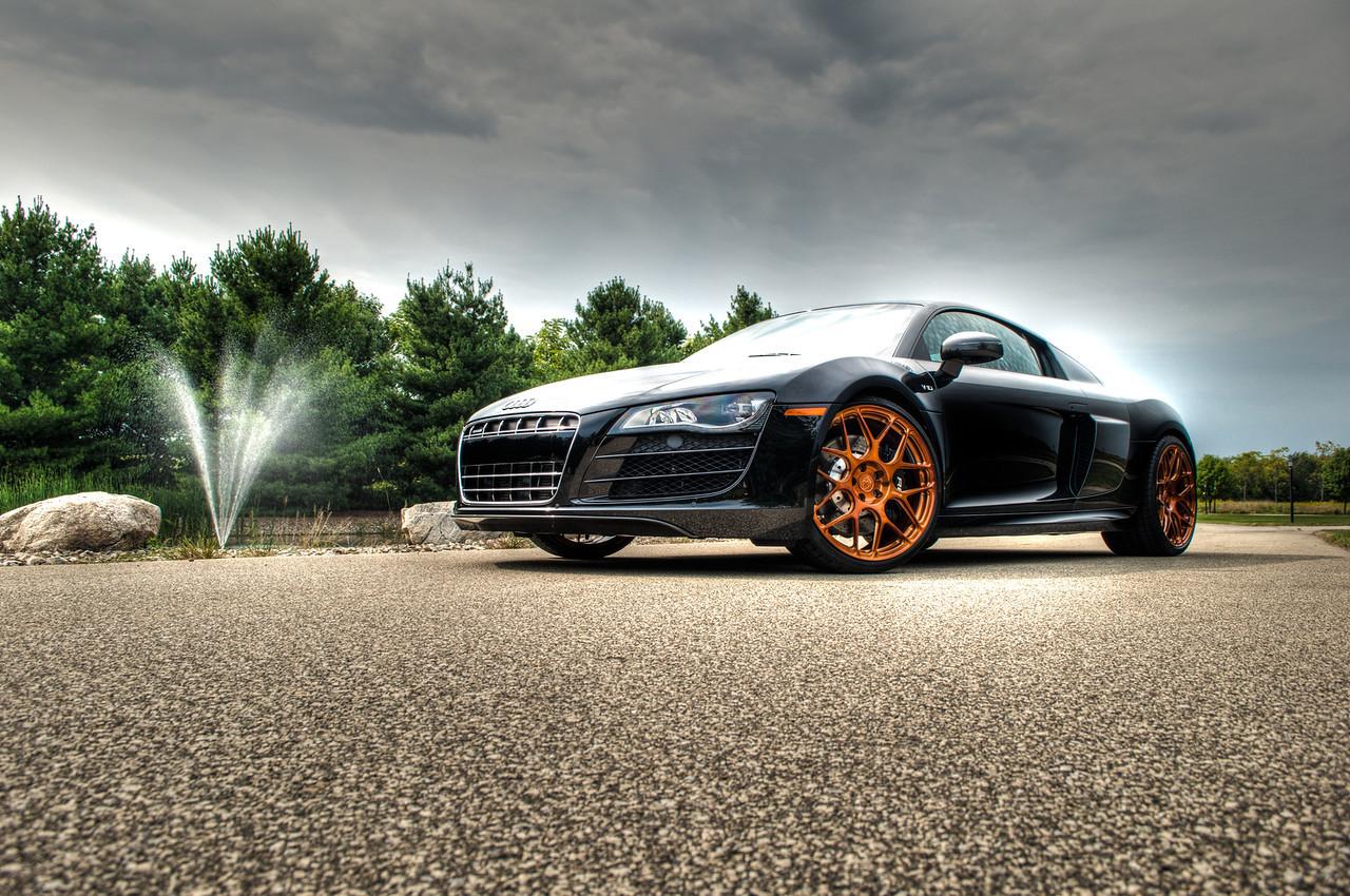 Audi R8 Rides On Copper Hre Wheels Kenderaan Cari Infonet