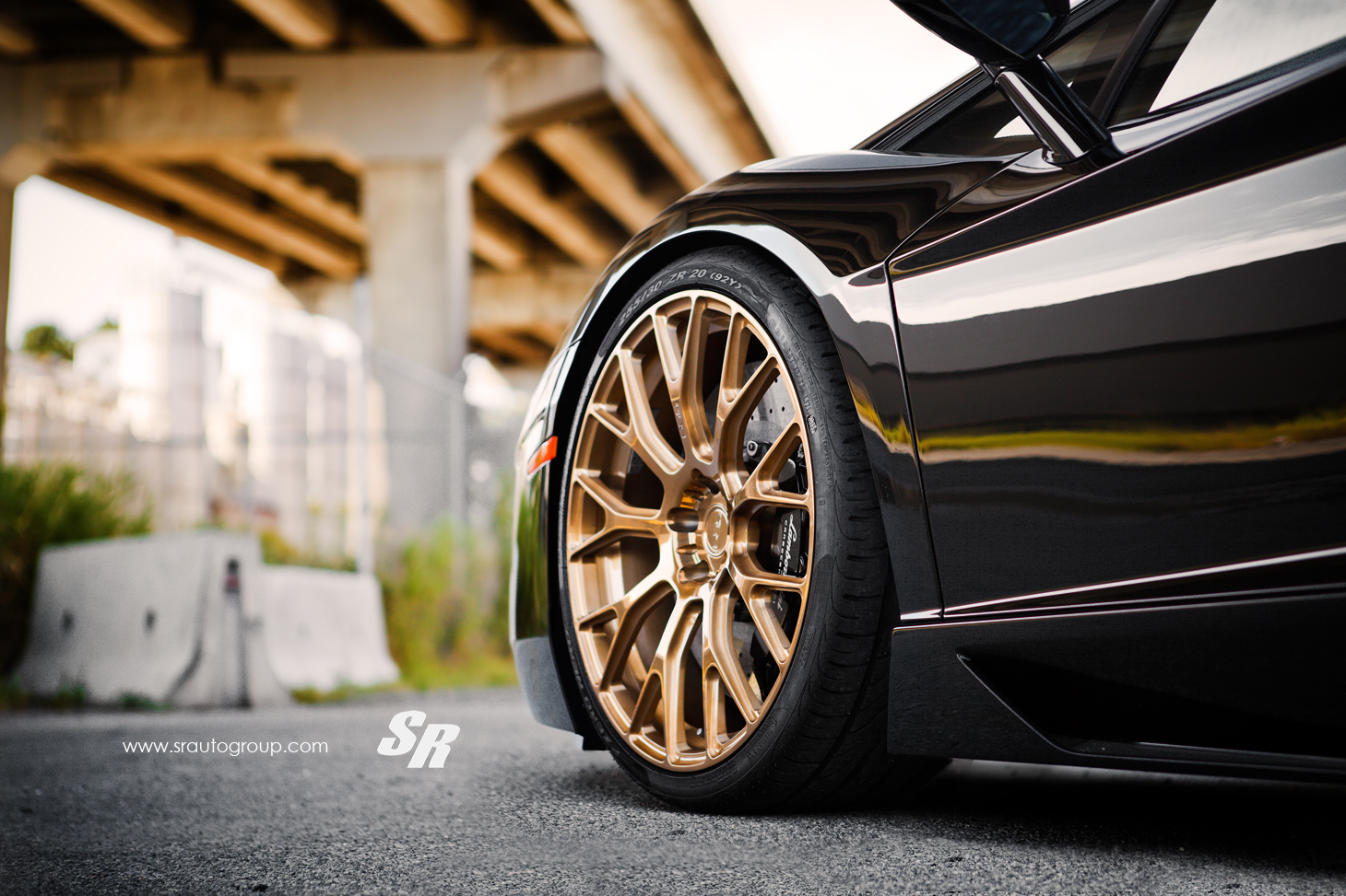 black lamborghini aventador on gold pur wheels gold rims car