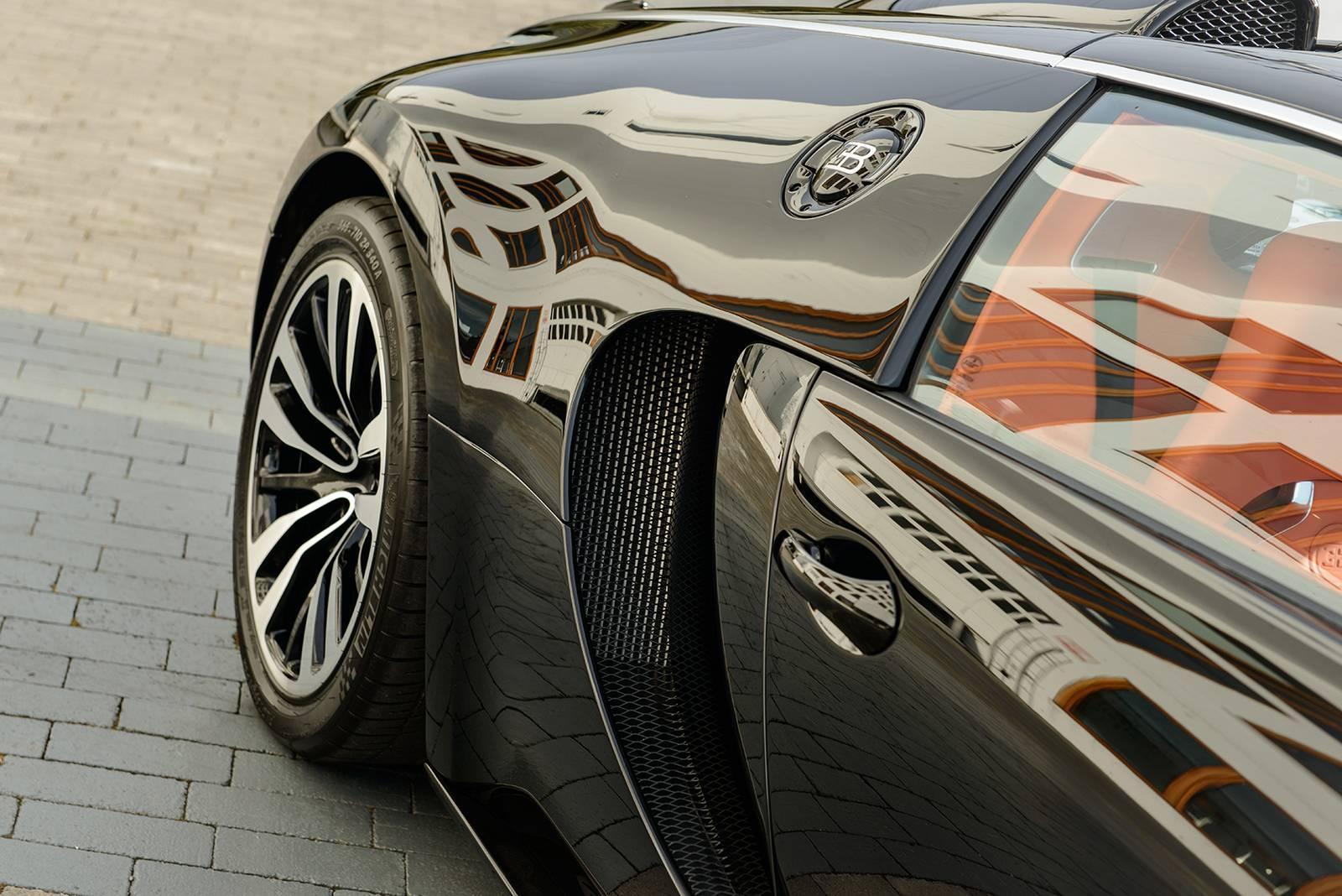 Суперкар Bugatti Veyron Sang Noir