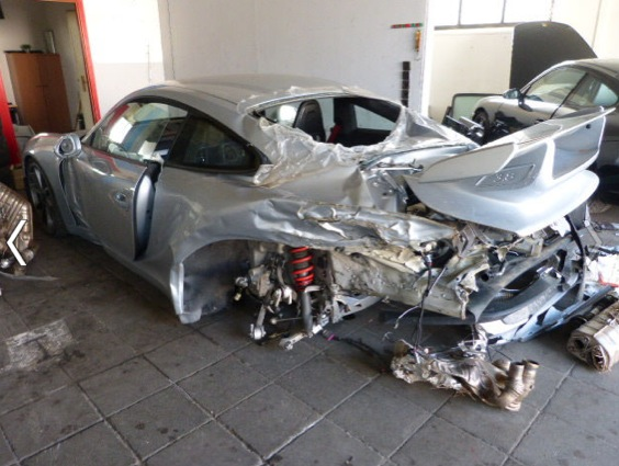 Destroyed Porsche 991 Gt3 For Sale In Germany Gtspirit
