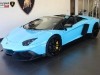 Baby Blue Lamborghini Aventador Roadster 50th Anniversary