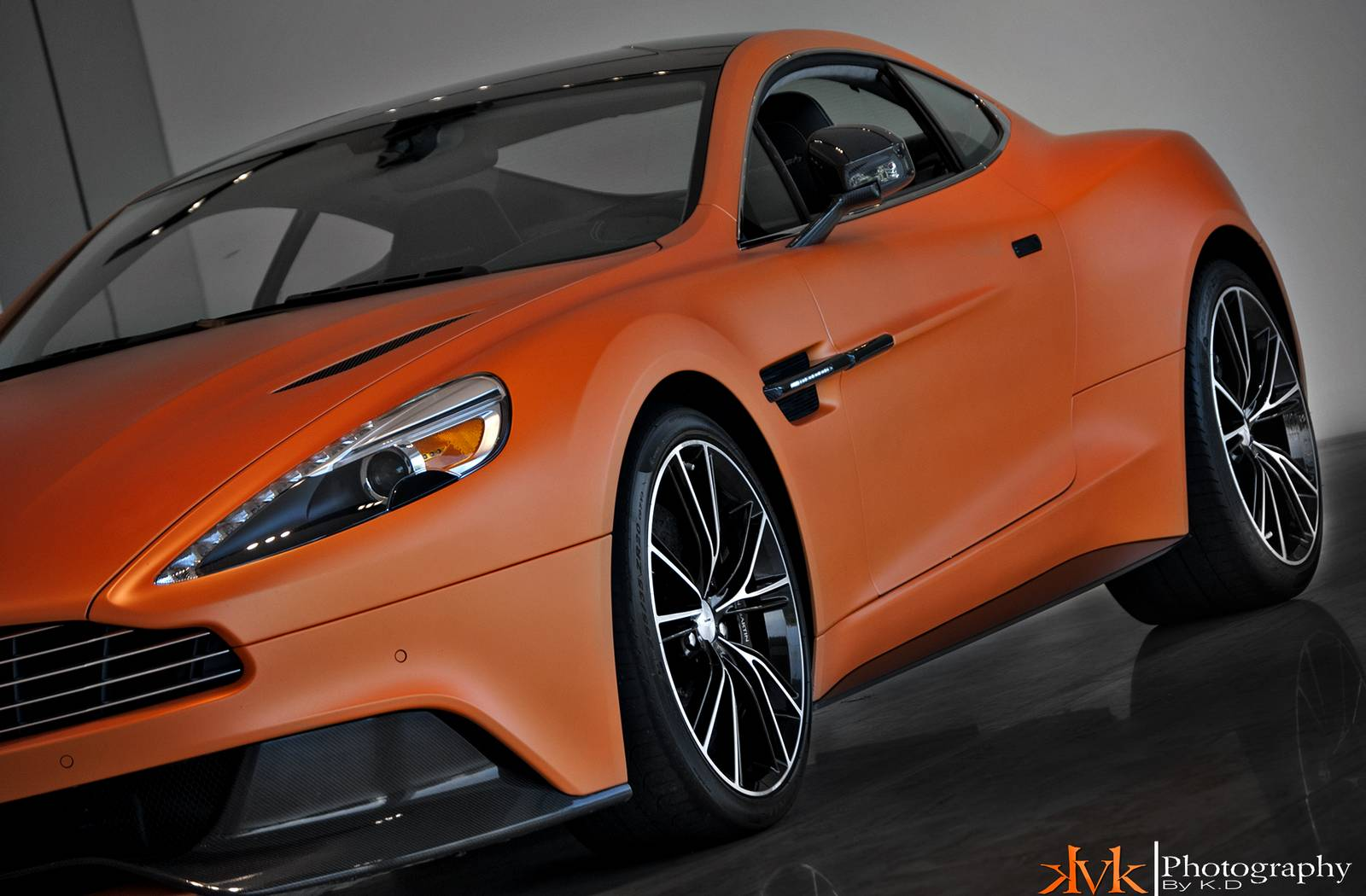 Gallery: Matte Orange 2014 Aston Martin Vanquish by kVk ...