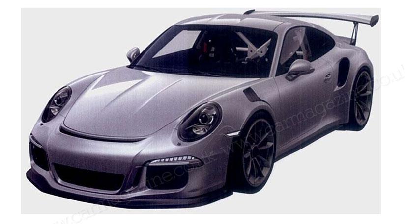 Патентное фото | Porsche 911 GT3 RS нового поколения