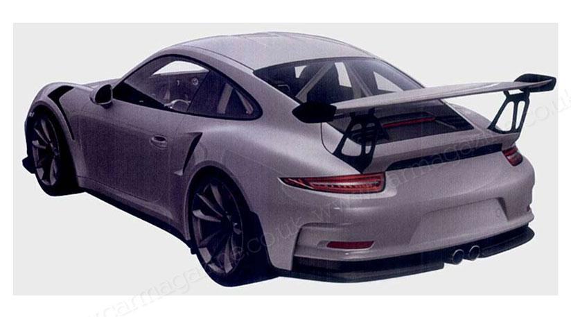Патентные фото | Porsche 911 GT3 RS. 2014 год