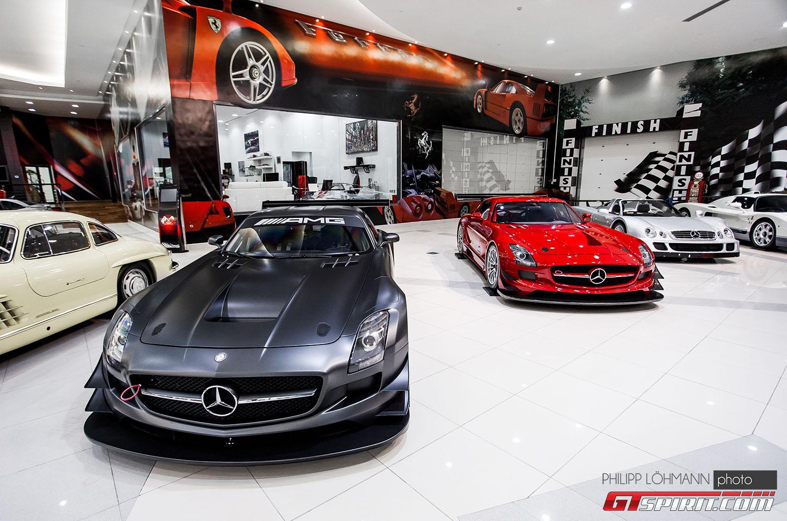 Гараж мечты в Абу-Даби. Mercedes-Benz SLS AMG GT3 45th Anniversary