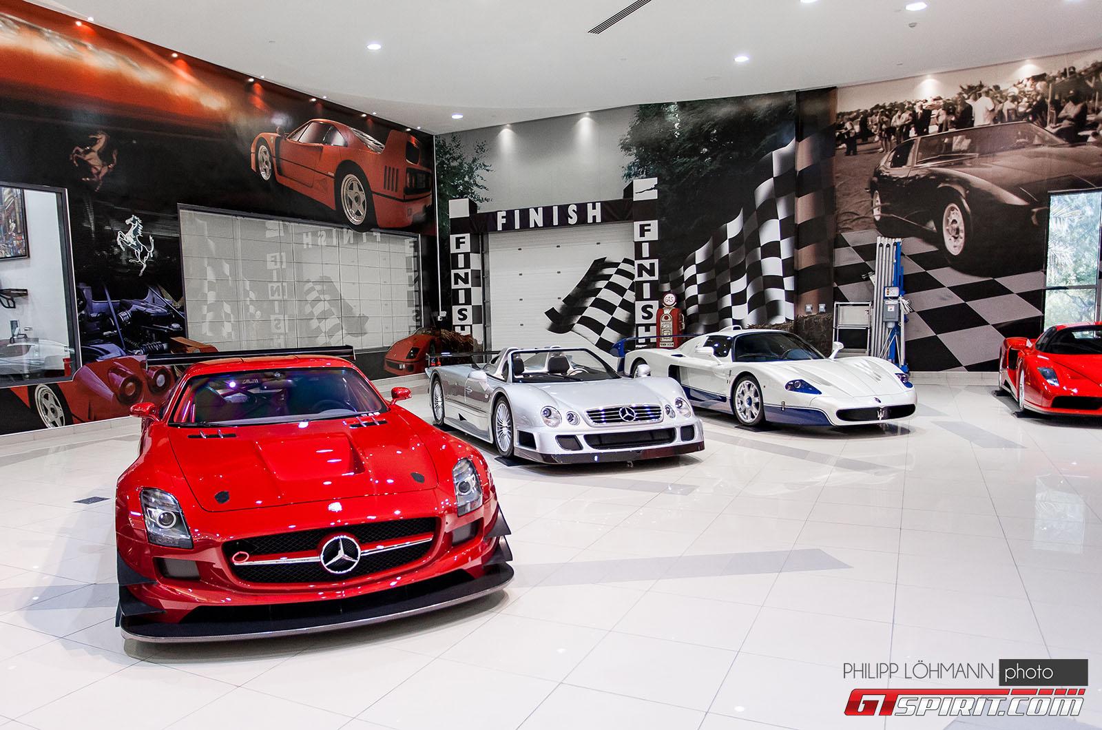 Гараж мечты в Абу-Даби. Mercedes-Benz SLS AMG GT3