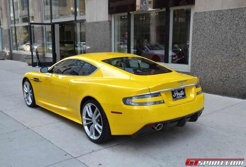 for sale unique yellow aston martin dbs. Black Bedroom Furniture Sets. Home Design Ideas