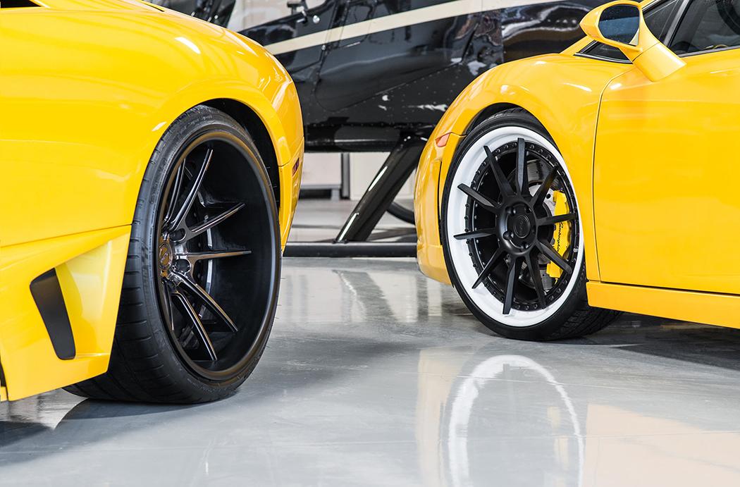 Желтые Lamborghini Murcielago и Gallardo
