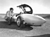 Harley Earl with Murray Rose in the 1954 GM Firebird I