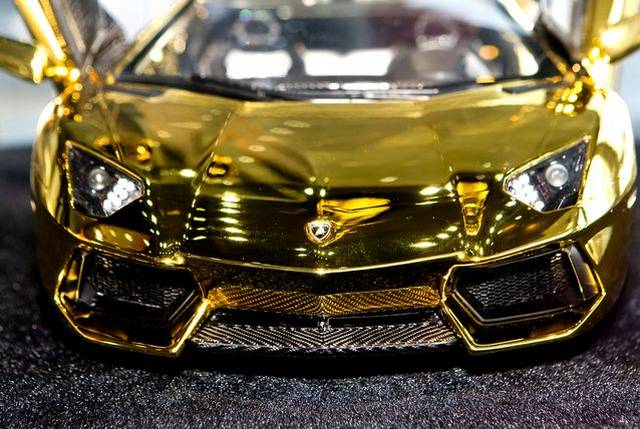 $7.3 Million Gold Lamborghini Aventador Awaits New Buyer
