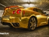 Gold Wrapped Nissan GT-R by WrapStyle