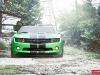 Green Goblet Chevrolet Camaro on 20 Inch CV3 Vossen Wheels