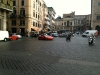 Jeremy Clarkson driving a Lamborghini Aventador for Top Gear in Rome