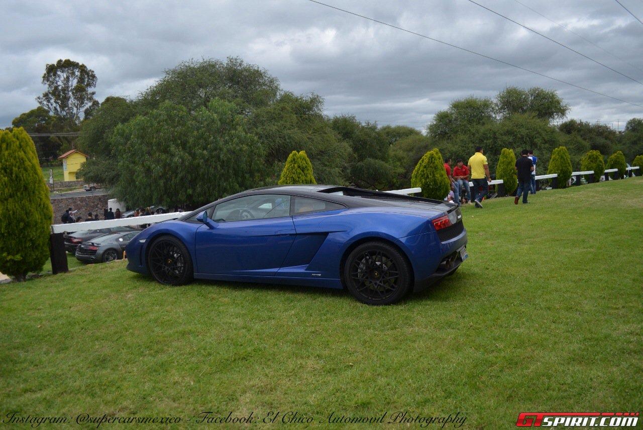 Фото   Синий Lamborghini Gallardo