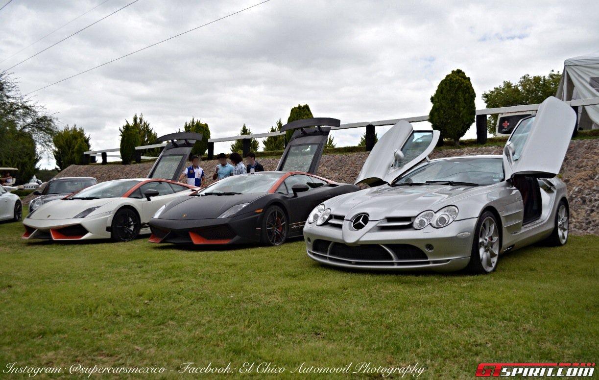 Фото   Mercedes SLR и Lamborghini Gallardo