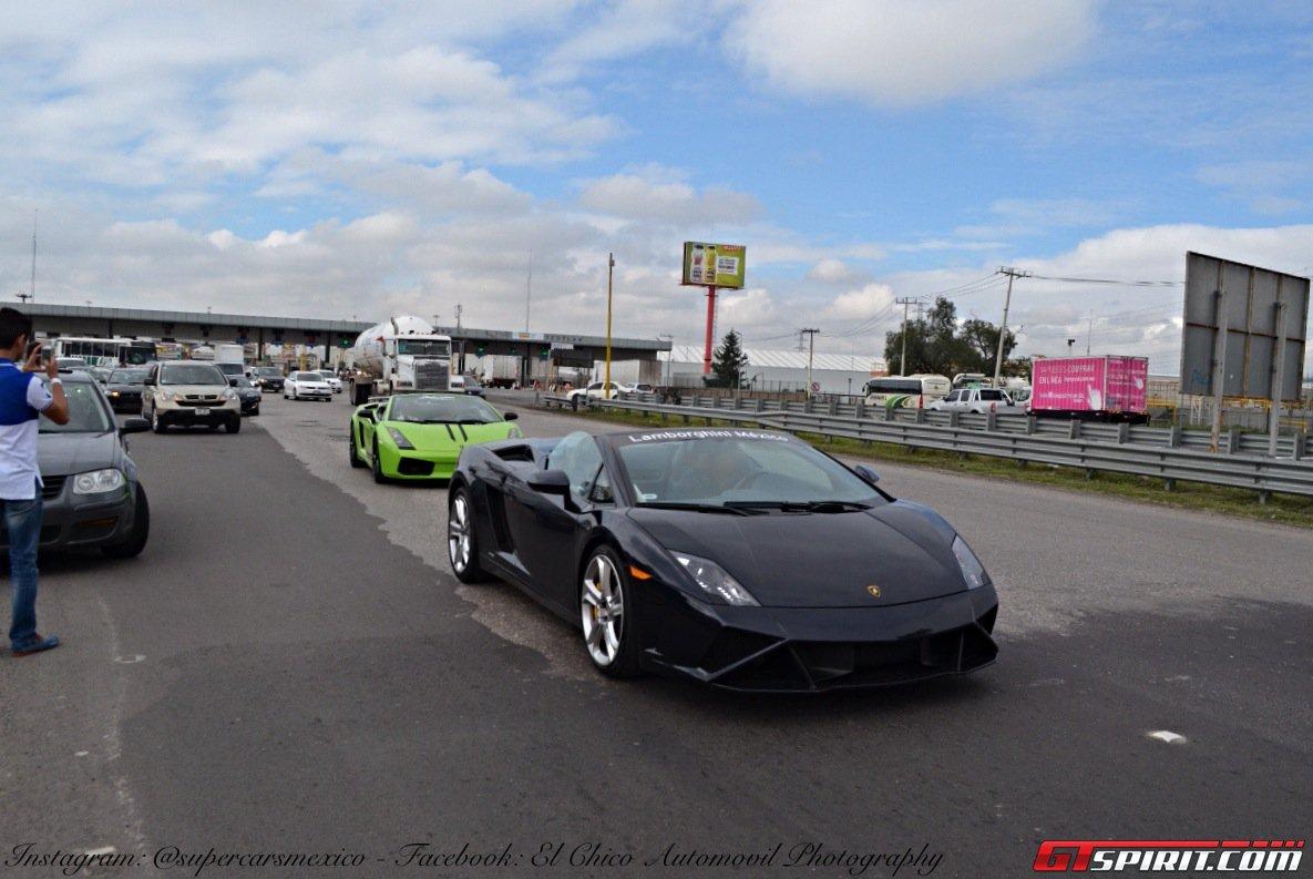 Фото   Чёрный родстер Lamborghini Gallardo Spyder