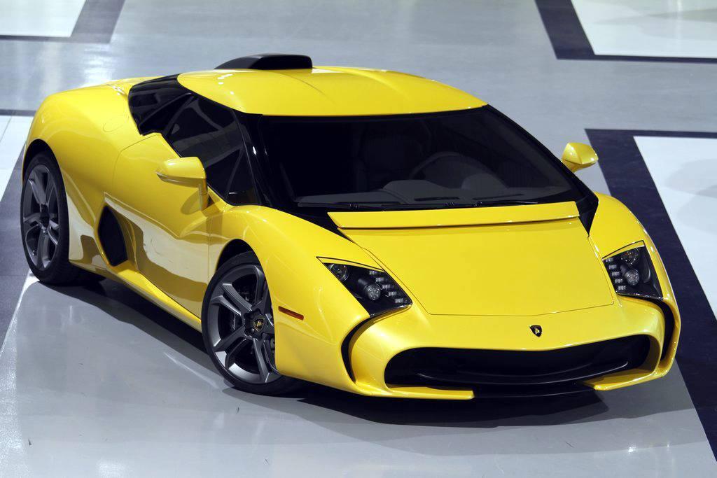 Жёлтая Lamborghini 5-95 Zagato