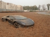 Lamborghini Aventador Gets Stuck in Gravel Trap