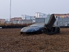 Lamborghini Aventador Gets Stuck in Gravel Trap