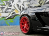 Lamborghini Gallardo Spyder on Brushed Red HRE Wheels