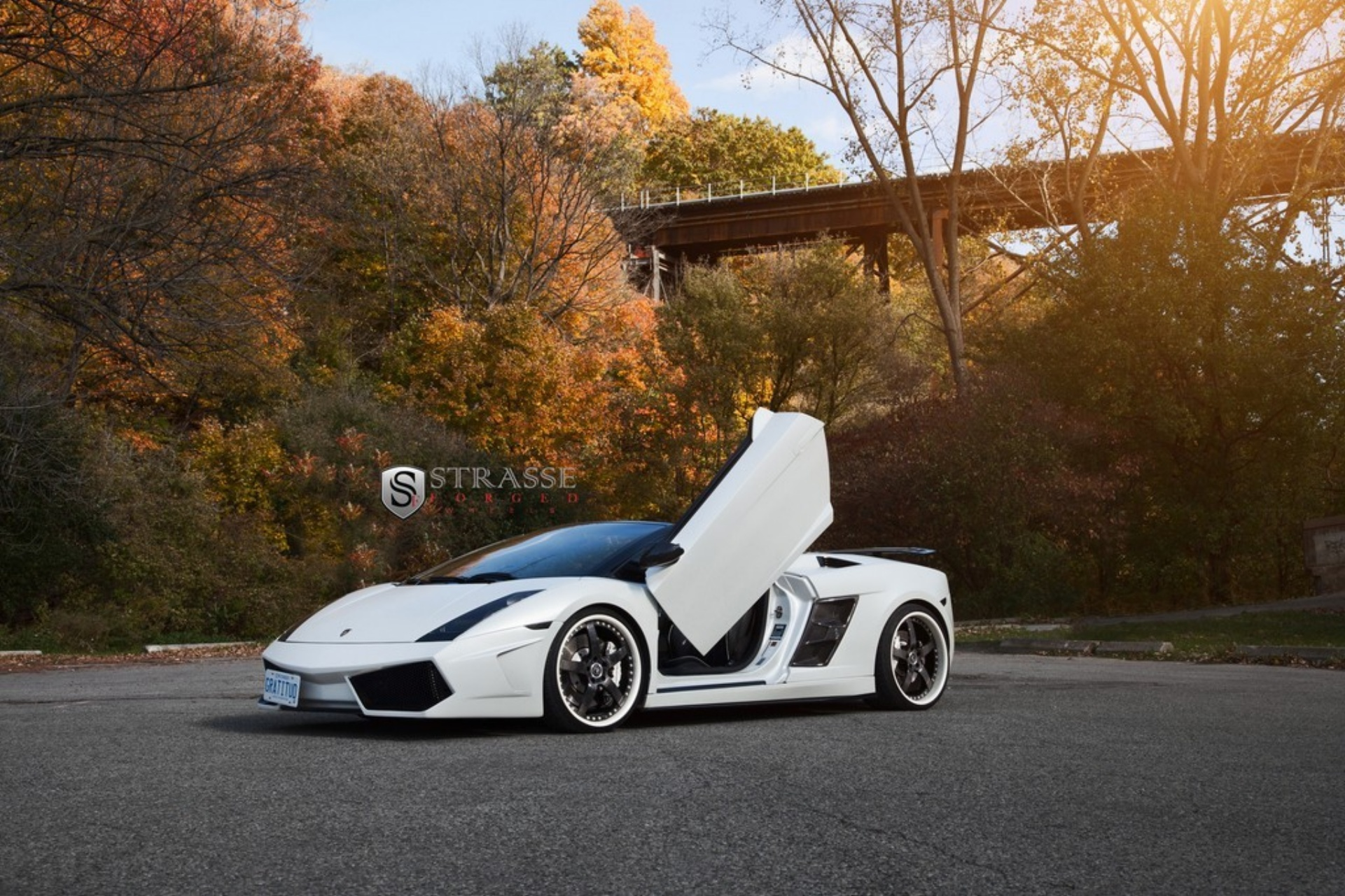 lamborghini gallardo spyder on strasse forged wheels. Black Bedroom Furniture Sets. Home Design Ideas