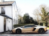 Gold Lamborghini LP700-4 Aventador