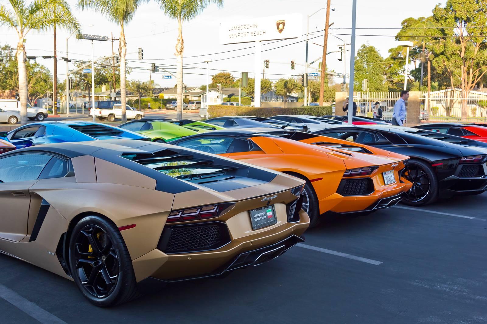 Lamborghini Newport Beach Vip 700 Club Gathering