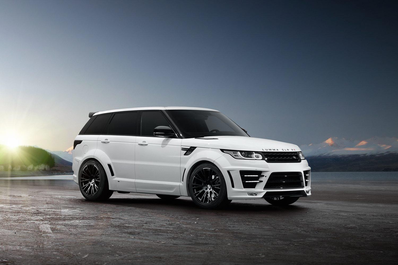 White Lumma Design Range Rover Vogue Clr R With Blue Accents Autos Post
