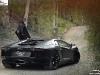Matte Black Lamborghini Aventador LP700-4